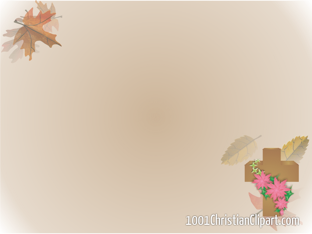 Autumn Theme Powerpoint - The cross in autumn theme 1024 768