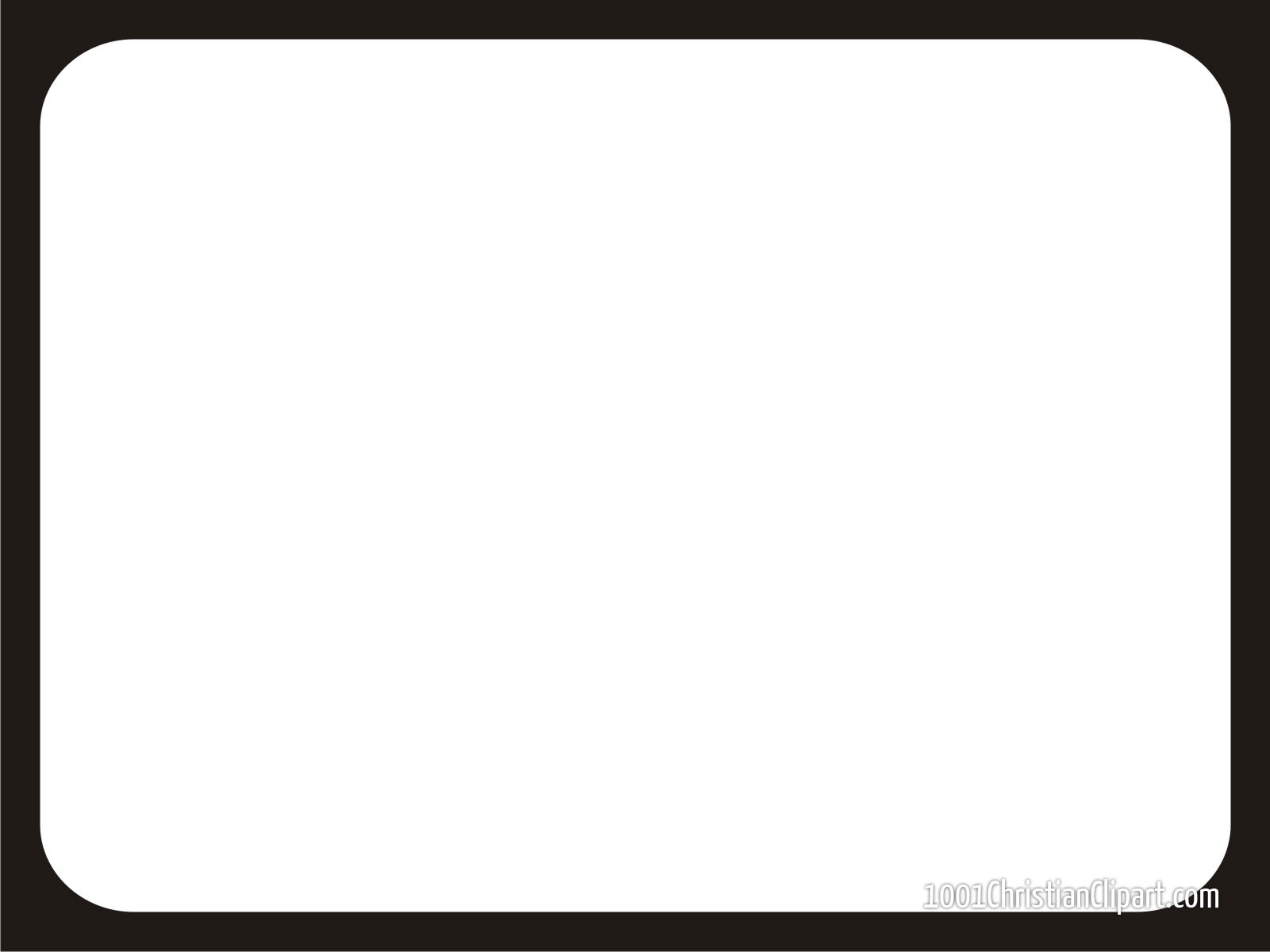 This is a simple white background with black border for PowerPoint