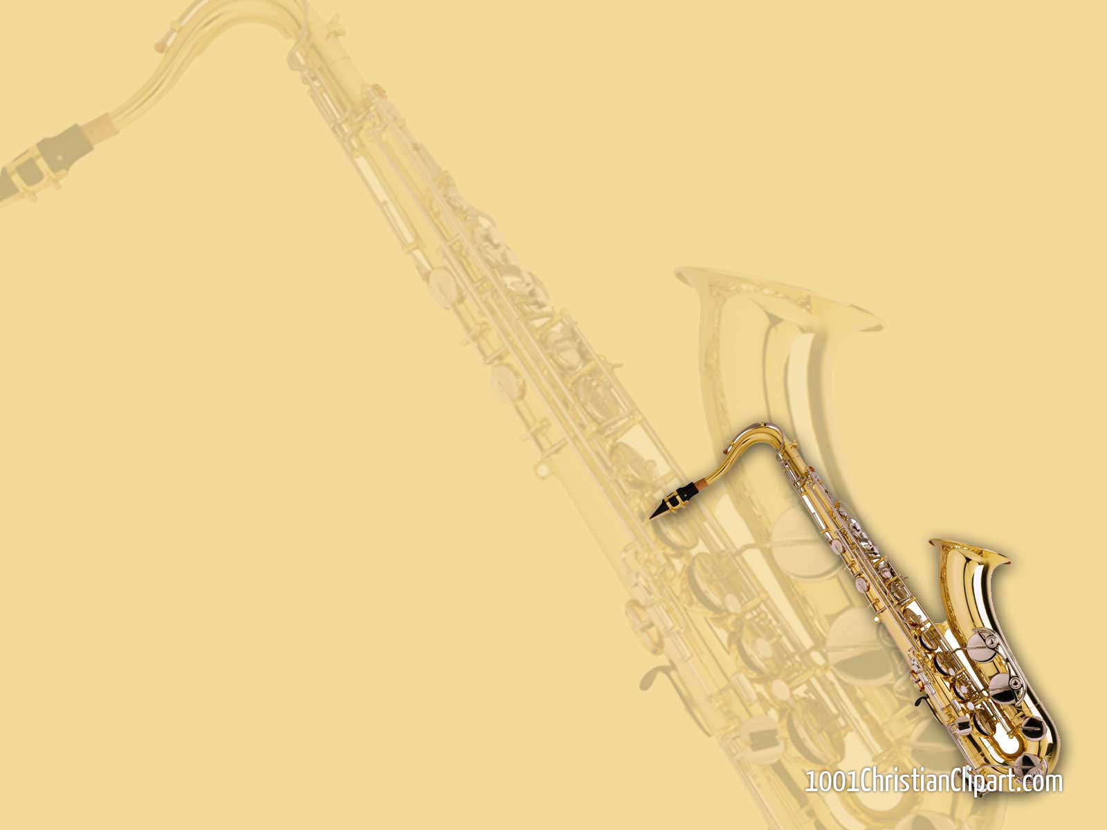 Musical Instrument / Trumpet theme, free download Powerpoint backgrounds and