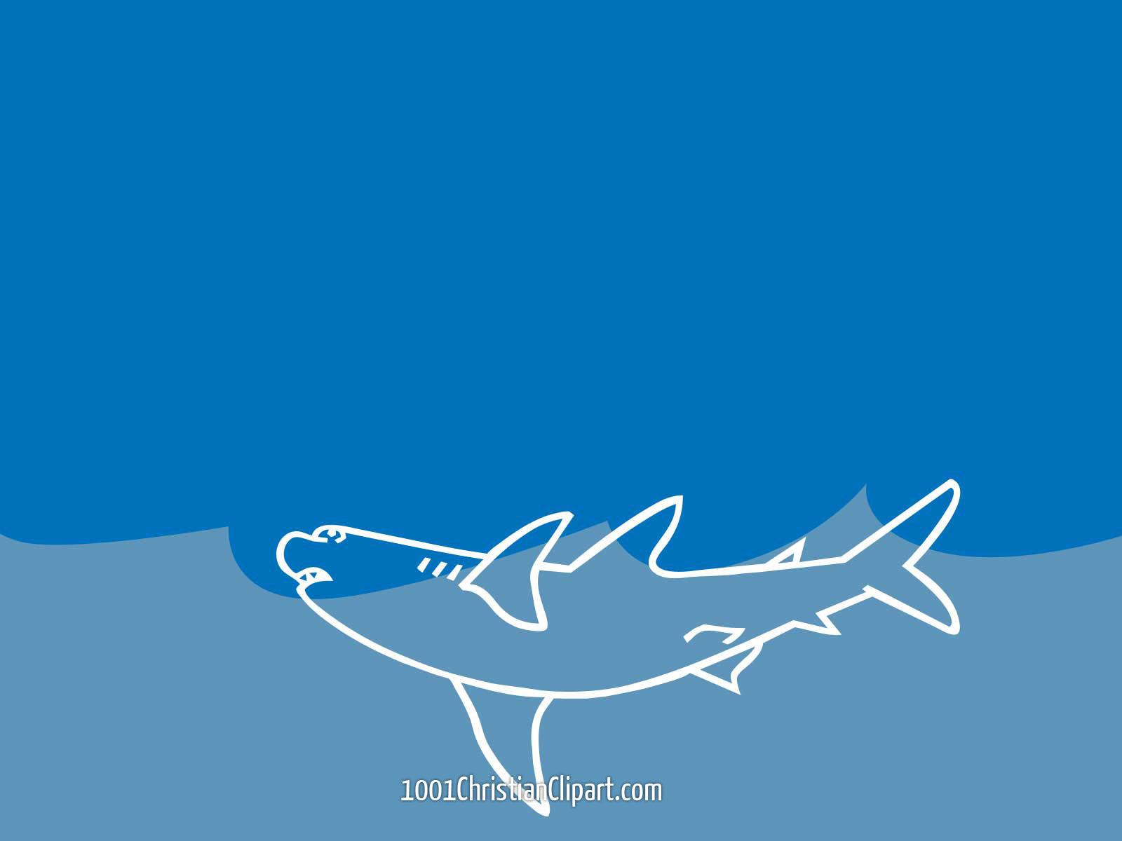 shark – 1001 christian clipart, Modern powerpoint